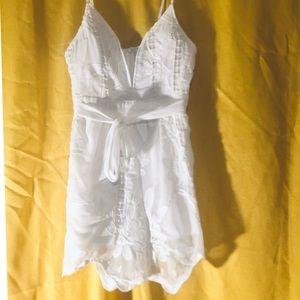 White linen romper*never worn